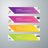Vector illustration of business infographics 4 options  Set of rectangular shapes separated triangles