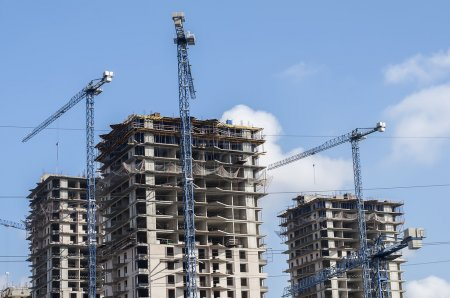 high-rise building at a construction site