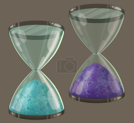 Colored sand clock