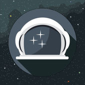 Digital vector with astronaut helmet icon