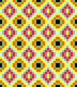Yellow old fashioned square ornament pattern
