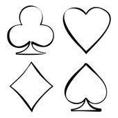 Four card suits Cards deck