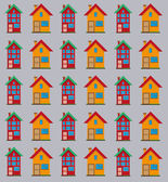 Detailed flat houses pattern