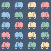 Colorful tipper truck pattern