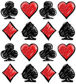 Four card suits Cards deck pattern