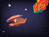 Spaceship Explosion in Cosmos