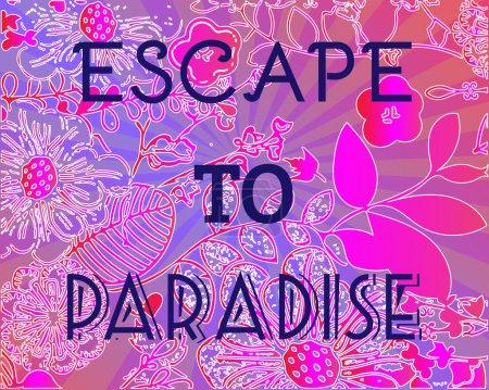 Summer Party Invitation Escape to Paradise.