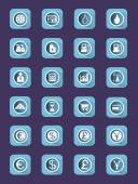 Flat icon set Buisiness icons Digital background vector illustration