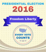 Presidential Election Campaign Ad Flyer Freedom Liberty Social Promotion Banner Every Vote Counts American Flag's Stars with Map Digital vector illustration