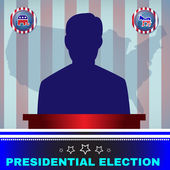 Presidential Election Candidate Elephant versus Donkey
