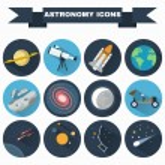 Постер, плакат: Astronomy Icons Set