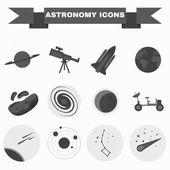 Astronomy Icons Set