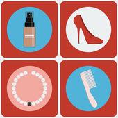 Feminine Beauty colorful icon set