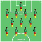Football Soccer Players isolated on the Playfield Computer game Football Club Playground Digital background vector illustration