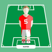 Computer game Austria Soccer club player