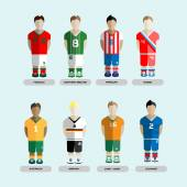 Soccer Club Team Players Set