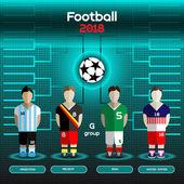 World Cup Team Scoreboard Argentina Belgium Iran United Stat