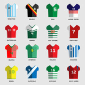 Football Soccer Team Wear Soccer club t-shirt set Sports infographic Digital background vector illustration