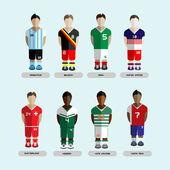 Soccer Club Team Players Set