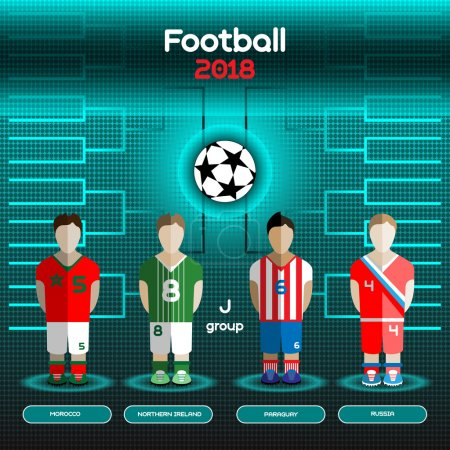 World Cup Team Scoreboard. Morocco, Northern Ireland, Paraguay,