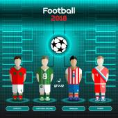 Football Players Scoreboard Vector digital illustration Soccer tournament sheet Visual graphic presentation Morocco Northern Ireland Paraguay Russia Teams