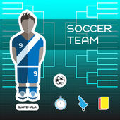 Soccer Team Guatemala - Football Players Scoreboard Vector digital illustration Soccer tournament sheet Visual graphic presentation