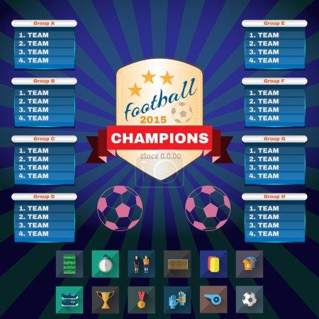 Football Champions Groups and Teams