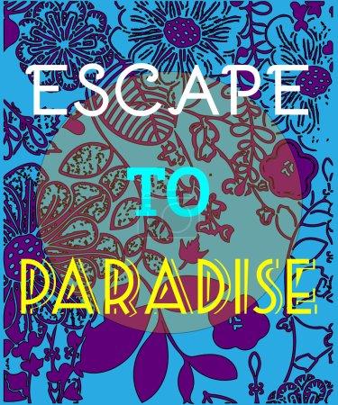 Summer Party Invitation Escape to Paradise