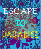 Summer Party Invitation Escape to Paradise
