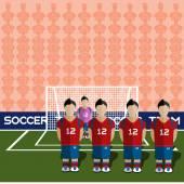 South Korea Soccer Club Penalty on Stadium
