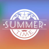 Summer Time Text Card Vector Illustration
