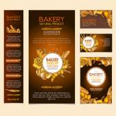 Bakery products restaurant menu page bakery template business ca