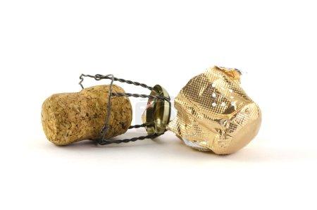 Photo pour Photo d'un champagne isolé ou d'une étincelle de bouchon de vin. Objet concept pour un événement de célébration . - image libre de droit