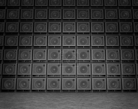 Photo for Wall composed of guitar amps set each other - Royalty Free Image