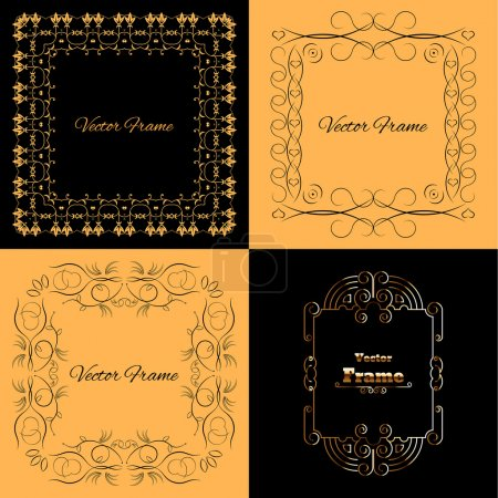 Collection of four stylish elegant frame