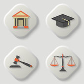 Set of icons of a judicial subject
