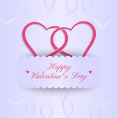 Decorative Valentine's frame with place for text Stylish invitation card Elegant greeting card Valentine's day abstract background