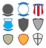 Shields and insignias in a variety of shapes
