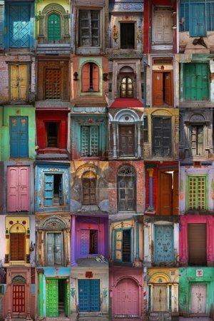Photo pour Portes, Varanasi, Inde - image libre de droit
