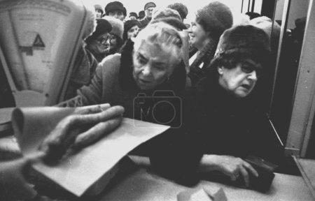 Photo pour Vintage photo prise à l'automne de 1980 au cours de la montée du mouvement Solidarnosc en République populaire de Pologne (Prl), photographié par Wlodzimierz Barchacz - image libre de droit