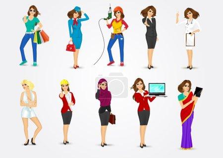 Photo pour Jeu de 10 professions, format vectoriel eps10 - image libre de droit