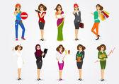 set of 10 professions
