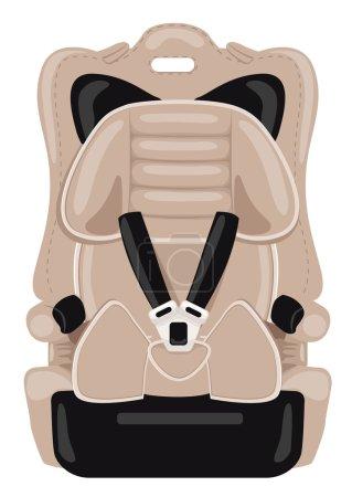 brown child car seat
