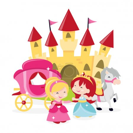 Cartoon Princesses' Castle