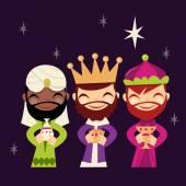 Retro Cute Three Kings