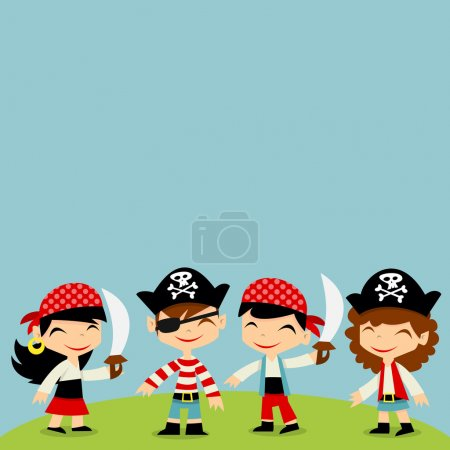 A vector illustration of a retro pirate adventure ...