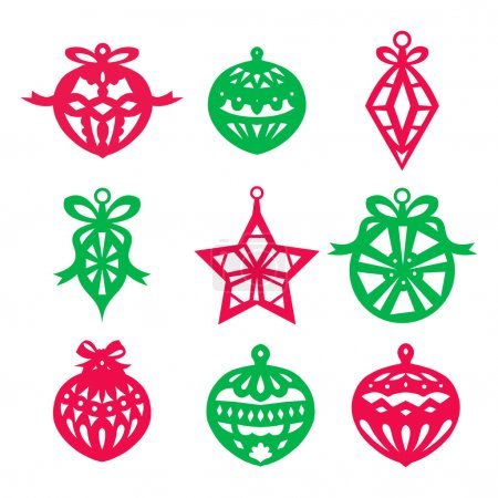 Christmas Ornament Paper Cut Set
