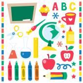 Retro Back to School Design Elements