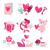 A sweet vector illustration of valentine theme clip arts