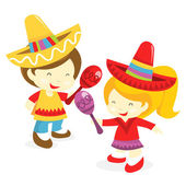 Mexican Boy And Girl